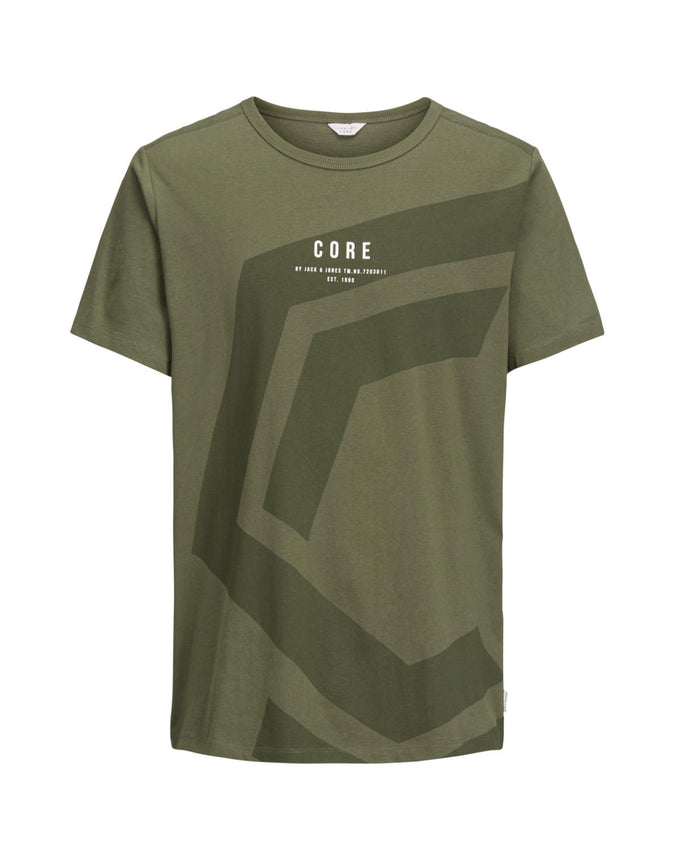 CORE T-SHIRT WITH A LARGE PRINT GRAPE LEAF