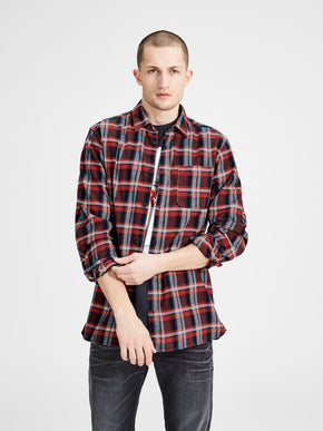 CHECKERED COMFORT FIT SHIRT