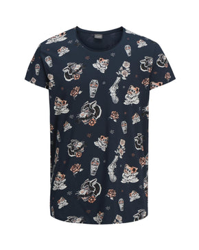 ALL-OVER PRINT SCOOP NECK T-SHIRT