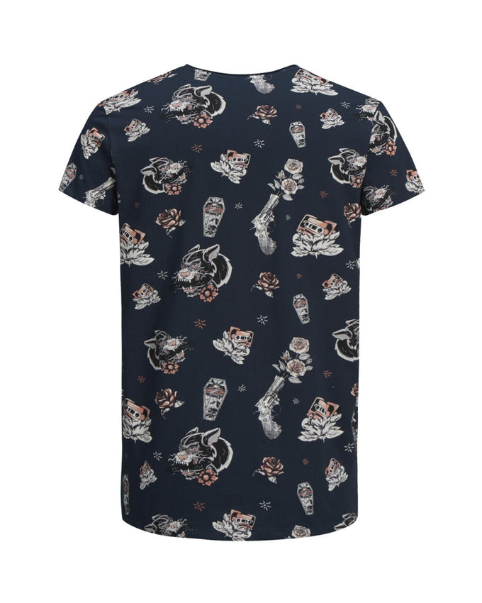ALL-OVER PRINT SCOOP NECK T-SHIRT TOTAL ECLIPSE