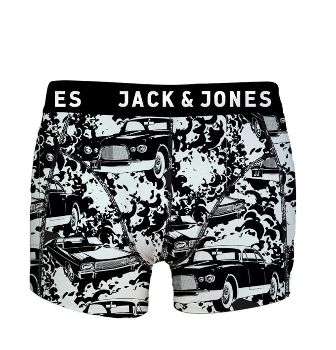 COLORFUL PRINTED BOXERS BLACK