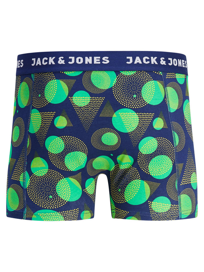 GEOMETRIC PRINT BOXERS SIMPLY GREEN