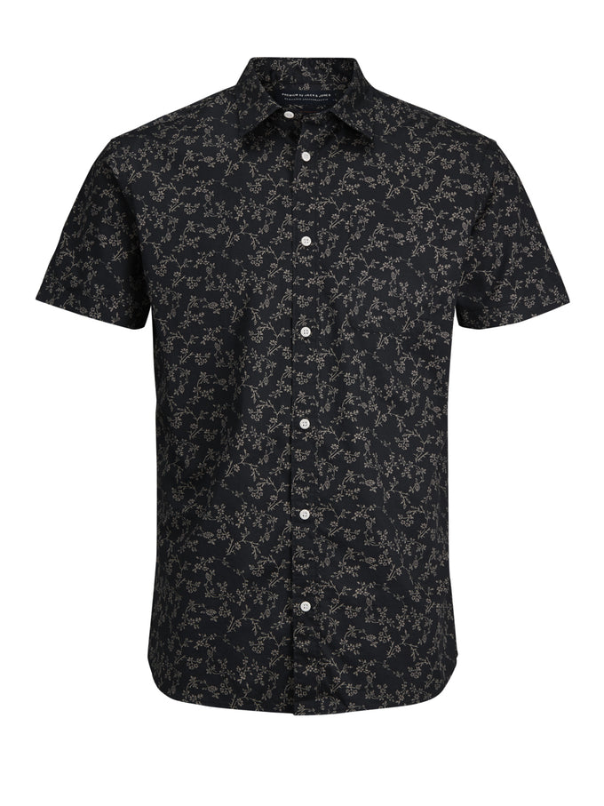 PATTERNED PREMIUM SHORT SLEEVE SHIRT CAVIAR