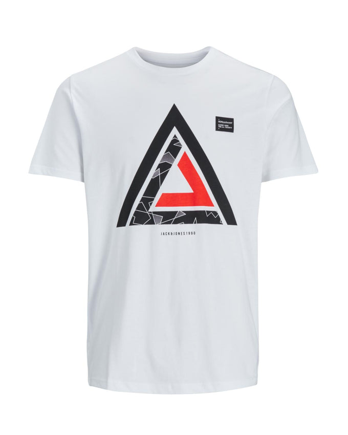 CORE GEOMETRIC PRINT T-SHIRT WHITE