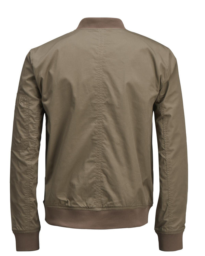 COTTON BOMBER JACKET BURNT OLIVE