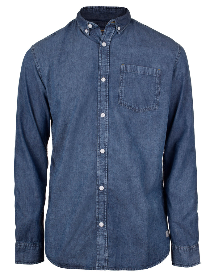 COMFORT FIT DENIM SHIRT BLUE DENIM
