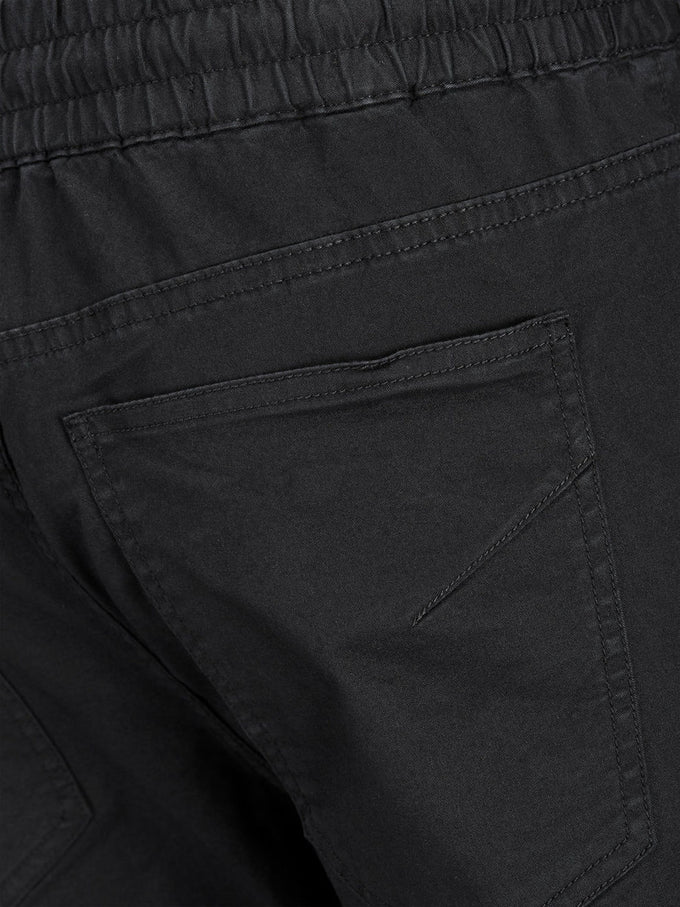 BASIC JOGGER PANTS WITH ZIPS BLACK