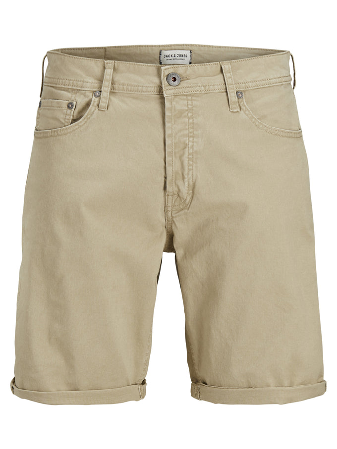 CLASSIC DENIM COMFORT FIT SHORTS WHITE PEPPER
