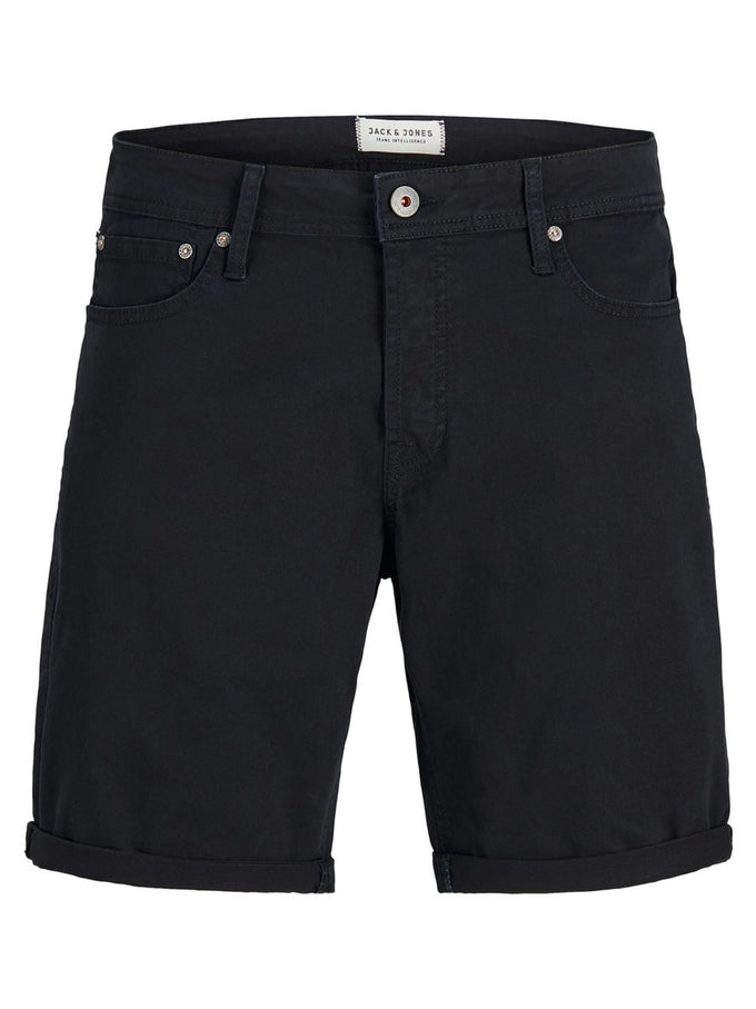 CLASSIC DENIM COMFORT FIT SHORTS BLACK
