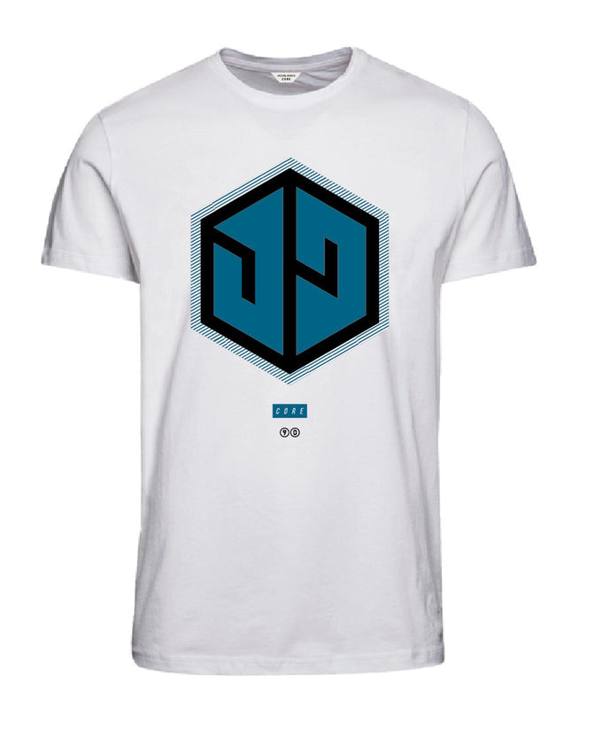DIGITAL CORE PRINT T-SHIRT WHITE/BLUE