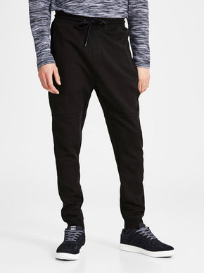 SLIM FIT RIBBED SWEATPANTS