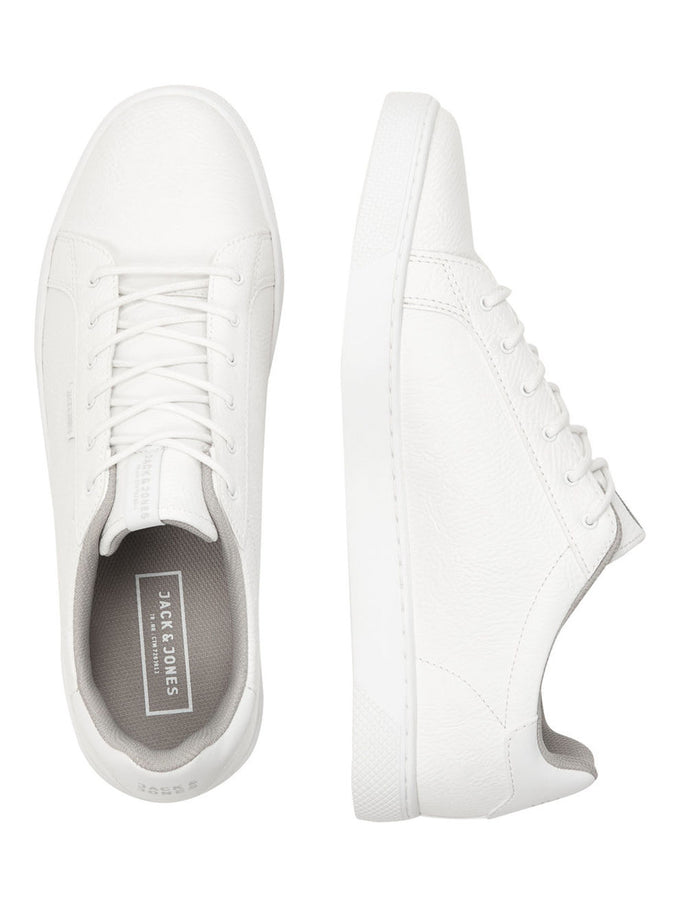 CLASSIC FAUX LEATHER SNEAKERS BRIGHT WHITE