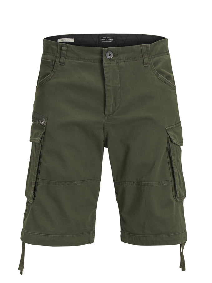 LONG CARGO SHORTS FOREST NIGHT/SOLID