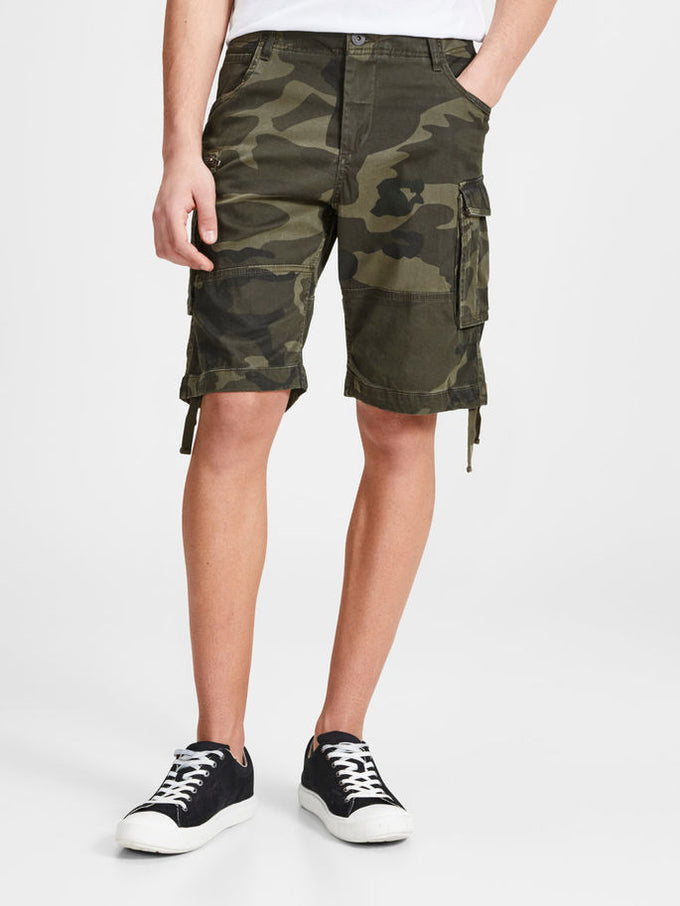 LONG CARGO SHORTS FOREST NIGHT