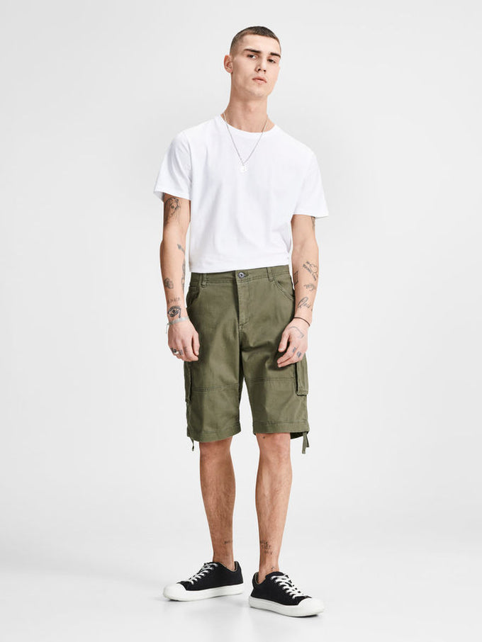 LONG CARGO SHORTS OLIVE NIGHT