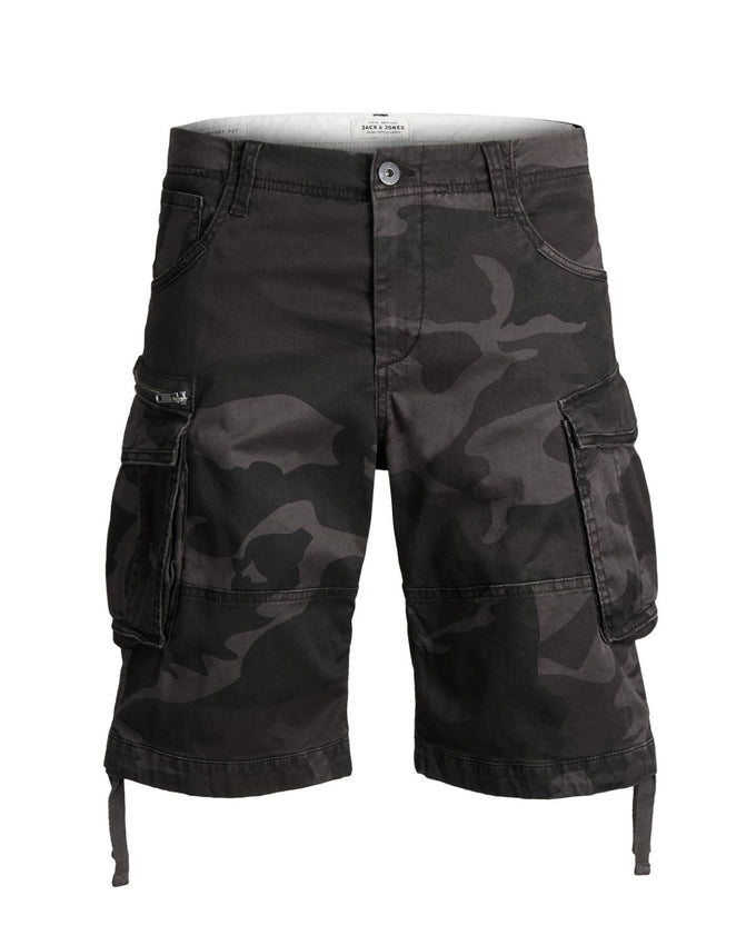 LONG CARGO SHORTS CHARCOAL GRAY