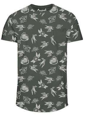 TATTOO PRINT POCKET T-SHIRT