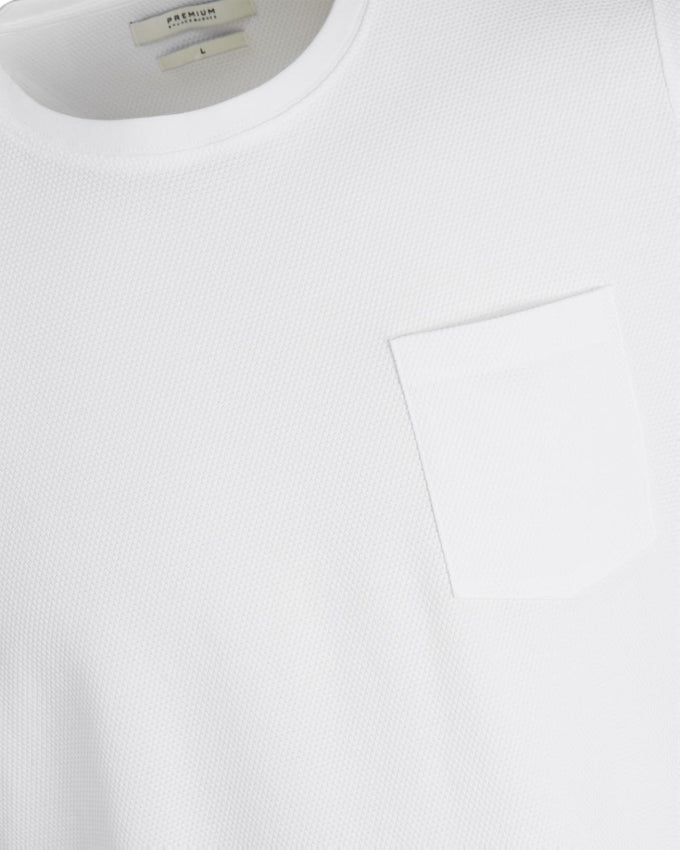 PREMIUM TEXTURED POCKET T-SHIRT WHITE