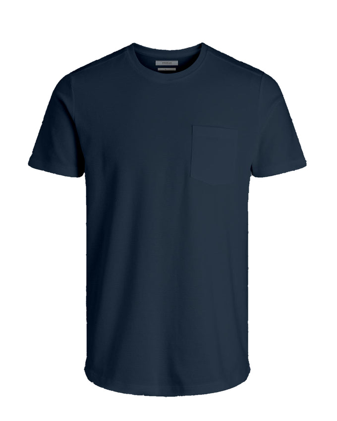 PREMIUM TEXTURED POCKET T-SHIRT DARK NAVY