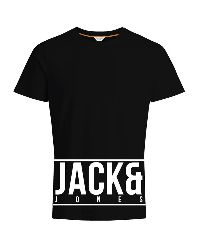 JACK & JONES PRINT CORE T-SHIRT BLACK