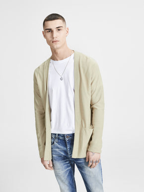 LIGHTWEIGHT OPEN KNIT CARDIGAN