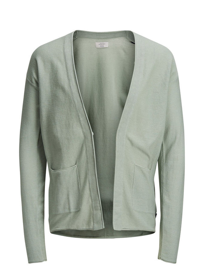 LIGHTWEIGHT OPEN KNIT CARDIGAN ICEBERG GREEN
