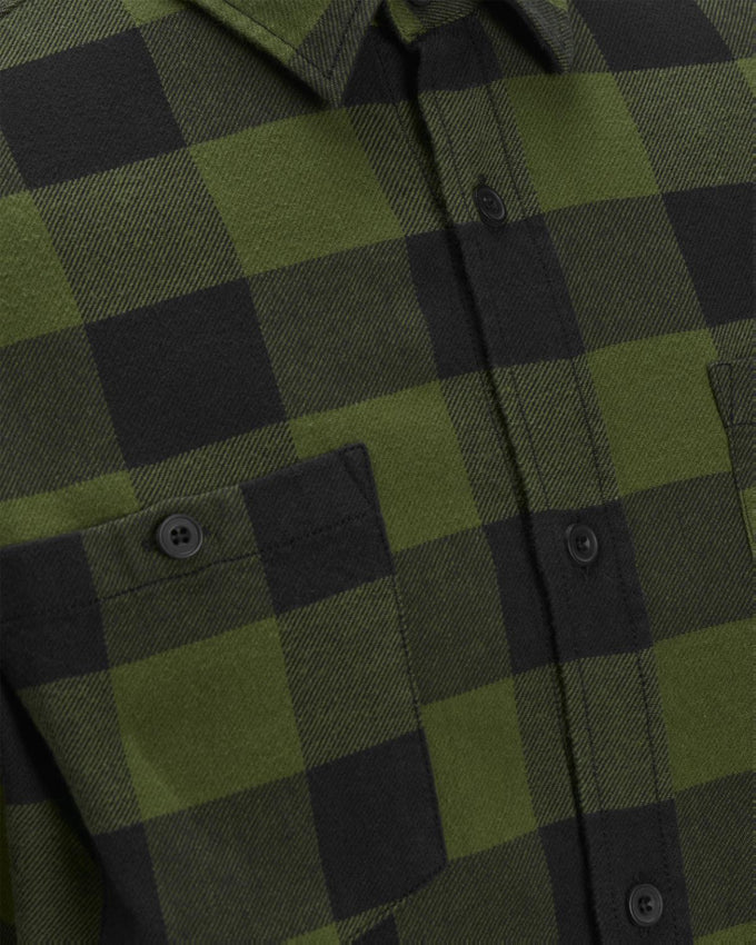 EMBROIDERED CHECKERED SHIRT CAPULET OLIVE