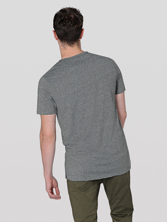 HEATHERED POCKET T-SHIRT THYME