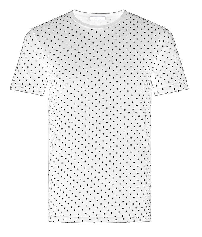 POLKA DOT PREMIUM T-SHIRT WHITE
