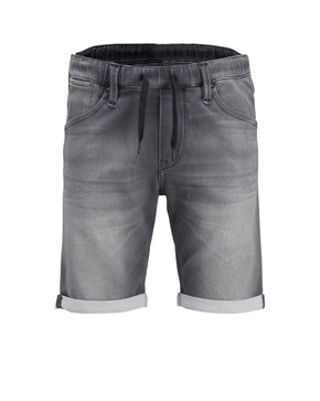 INDIGO KNIT STRETCH GREY JOG SHORTS
