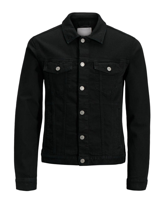 COLOURFUL DENIM JACKET BLACK