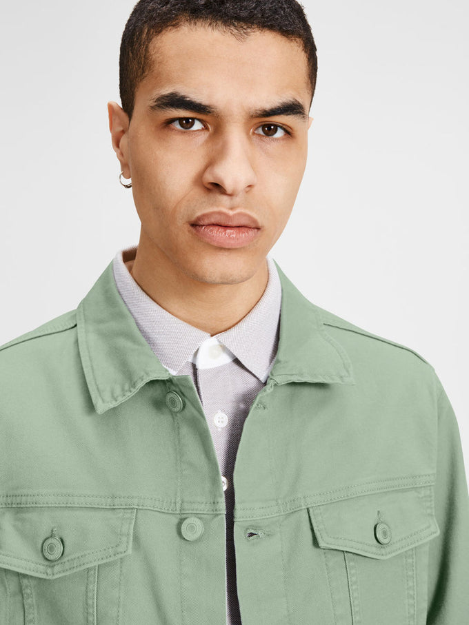 COLOURFUL DENIM JACKET ICEBERG GREEN