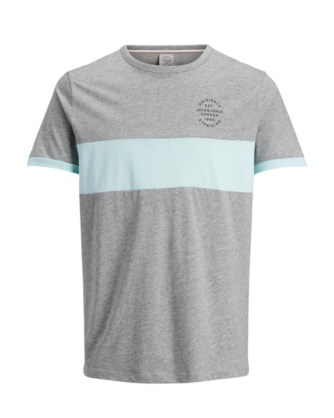 ORIGINALS COLOUR BLOCK T-SHIRT LIGHT GREY MELANGE
