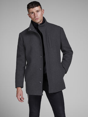 LAYERED WOOL COAT