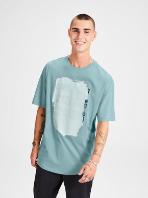 OVERSIZE T-SHIRT WITH PRINTED CORE DETAILS