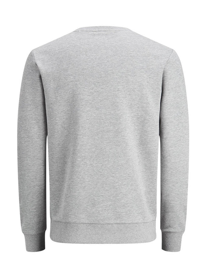 LOGO CREWNECK LIGHT GREY MELANGE