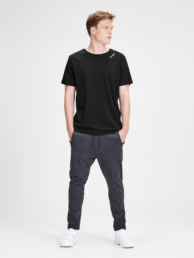 HIGH-LOW T-SHIRT WITH ZIPPED SIDE BLACK
