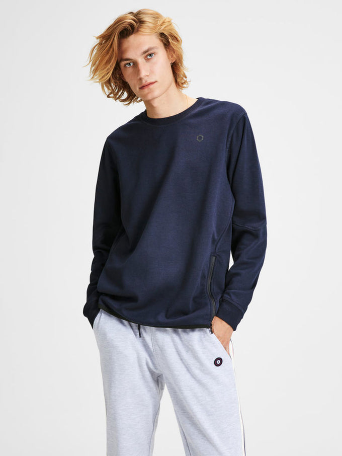 CORE SWEATSHIRT WITH ZIPPED SIDES SKY CAPTAIN