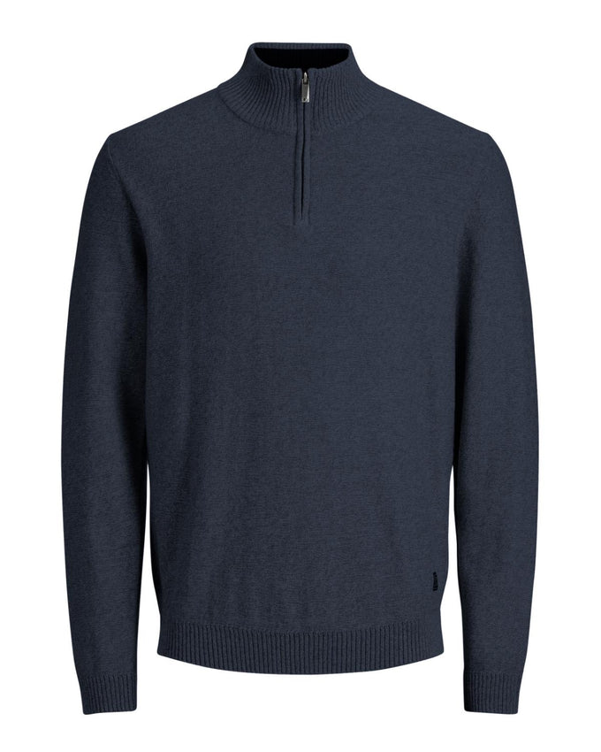 HALF-ZIP PREMIUM SWEATER NAVY BLAZER