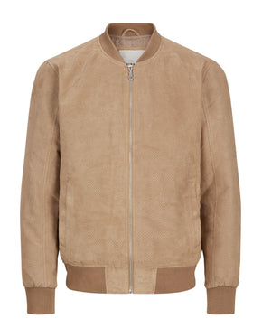 SUEDE STYLE BOMBER JACKET