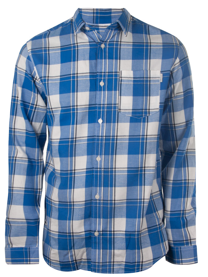 CHECKERED REGULAR FIT CORE SHIRT NAUTICAL BLUE