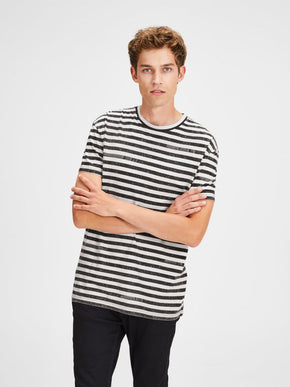 OVERSIZE FADED STRIPED T-SHIRT
