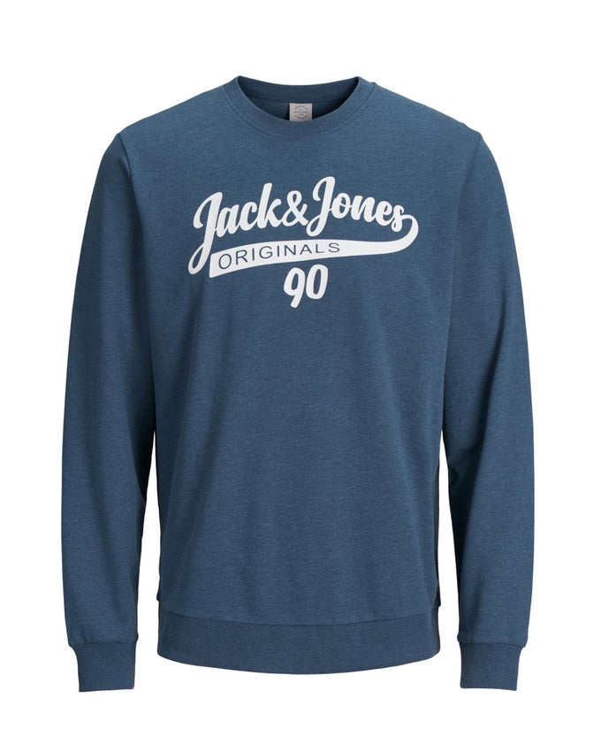 JACK & JONES LOGO CREWNECK DARK DENIM