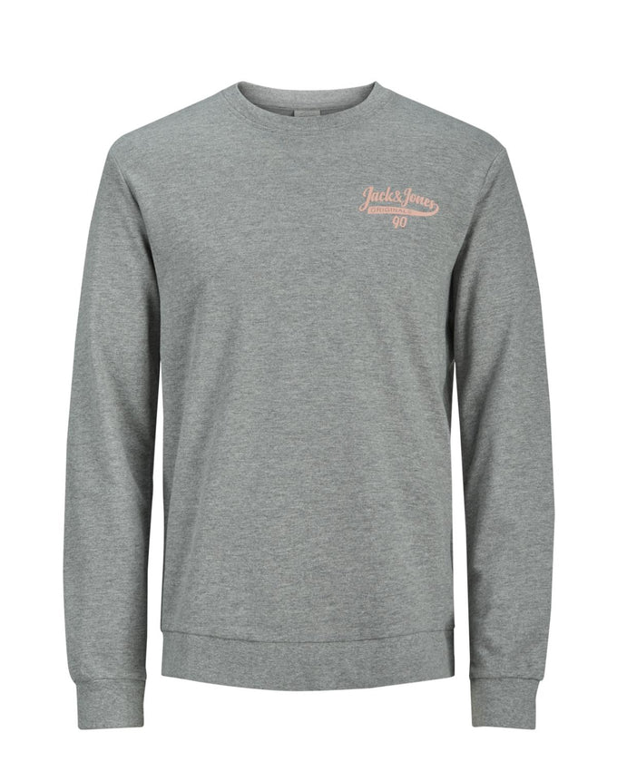 JACK & JONES LOGO CREWNECK LIGHT GREY MELANGE