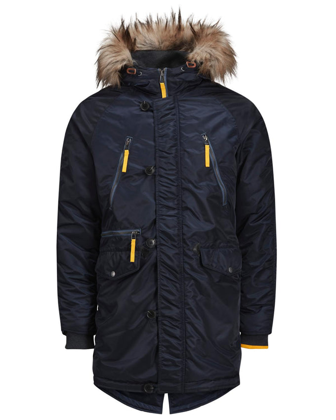 ORIGINALS PARKA WITH FAUX-FUR HOOD TOTAL ECLIPSE