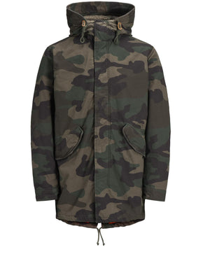 FISHTAIL PARKA WITH CAMO STYLE