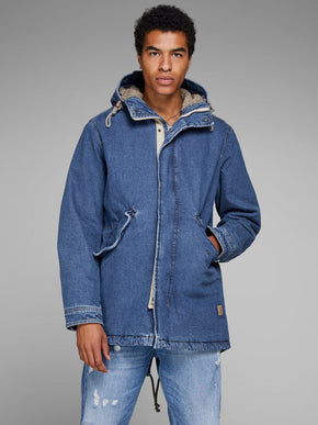 FISHTAIL DENIM PARKA