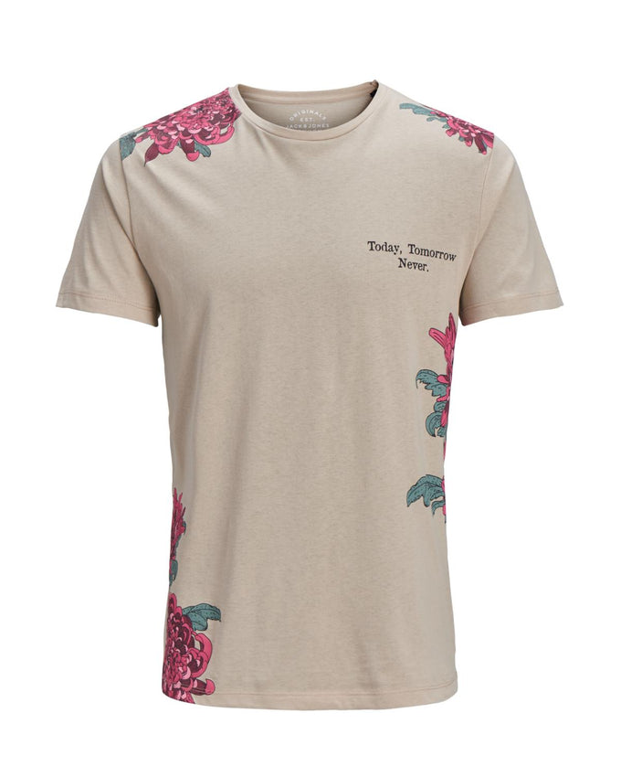 FLORAL ORIGINALS T-SHIRT FEATHER GRAY
