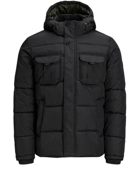 PADDED PUFFER JACKET WITH DETACHABLE HOOD