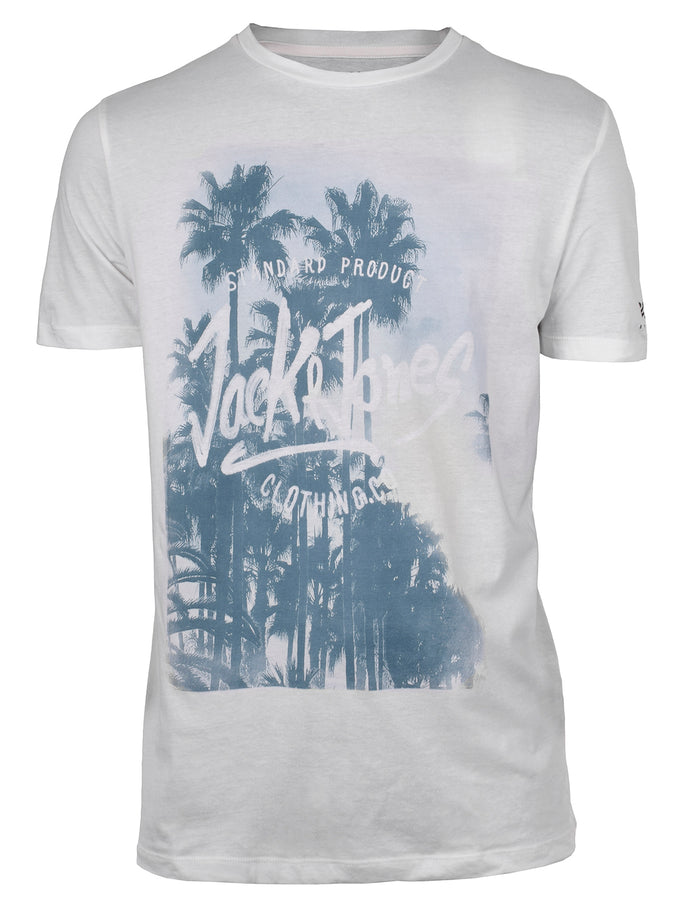 BEACH PRINT T-SHIRT CLOUD DANCER